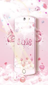 New Year Pink Kitty Theme screenshot 3