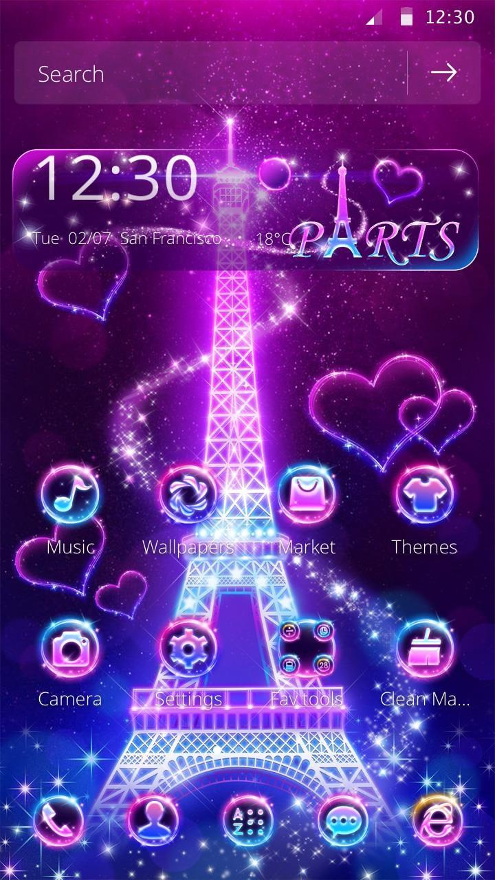 Neon Menara Eiffel Tema ✨ For Android APK Download