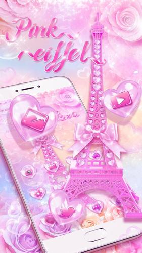 Pink Love Eiffel Tower Theme For Android Apk Download