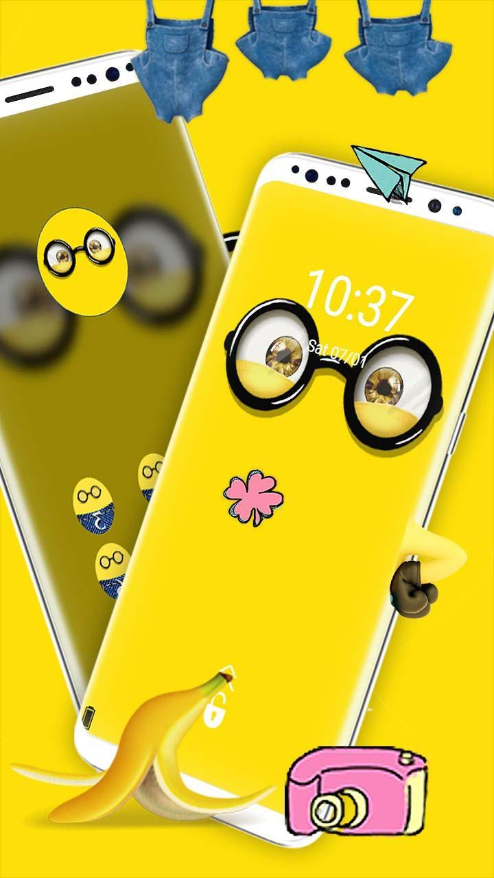 Yellow Friend Cartoon Theme For Android Apk Download