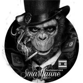 Black and white wallpaper theme orangutan theme icon