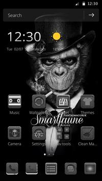 Black and white wallpaper theme orangutan theme poster