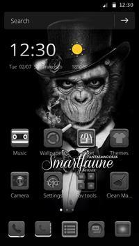 Black and white wallpaper theme orangutan theme poster