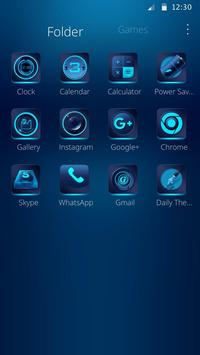 Blue technology theme apk screenshot