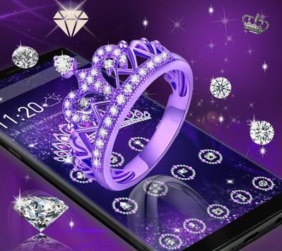 Purple Laurel Bling Wallpaper Apk Screenshot