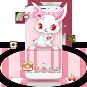 White Cute Rabbit Theme icon