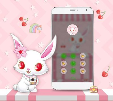 White Cute Rabbit Theme screenshot 3