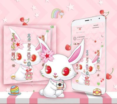 White Cute Rabbit Theme screenshot 4
