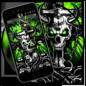 Gothic Metal Graffiti Skull Theme icon