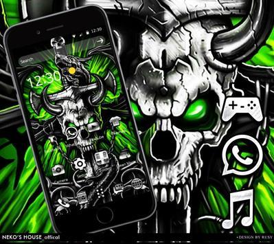 Gothic Metal Graffiti Skull Theme poster