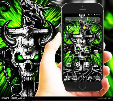 Gothic Metal Graffiti Skull Theme screenshot 1