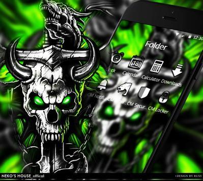 Gothic Metal Graffiti Skull Theme screenshot 2
