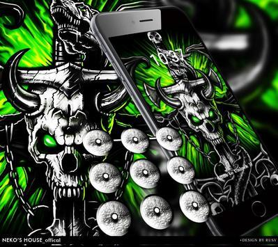 Gothic Metal Graffiti Skull Theme screenshot 3
