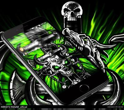 Gothic Metal Graffiti Skull Theme screenshot 4
