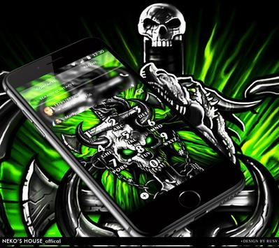 Gothic Metal Graffiti Skull Theme Screenshot
