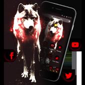 Red Dark Vintage Wolf Theme icon