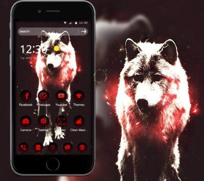 Red Dark Vintage Wolf Theme poster