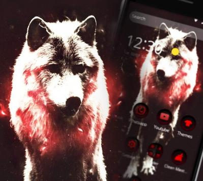 Red Dark Vintage Wolf Theme apk screenshot