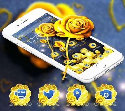 Golden Jeans Romantic Rose Theme poster