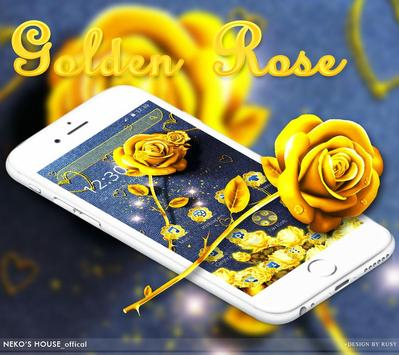 Golden Jeans Rose Theme poster