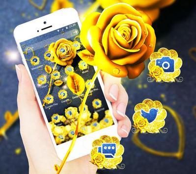 Golden Jeans Romantic Rose Theme apk screenshot