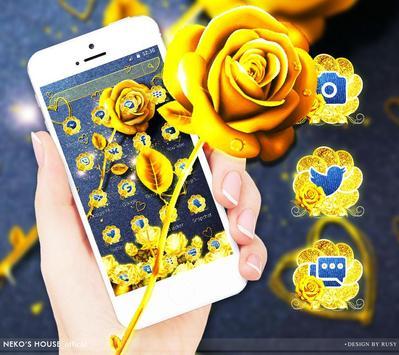 Golden Jeans Rose Theme screenshot 2