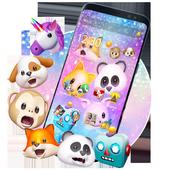 Тема смешной животного Emojis иконка