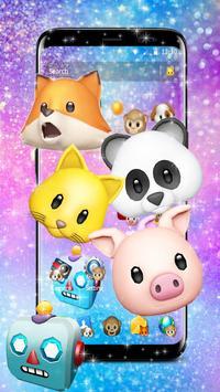 Funny Animal Emojis Theme screenshot 1