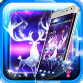 Neon Night Deer theme icon