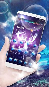 Neon Night Deer theme poster