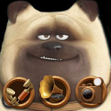 Cute Dog  theme Beautiful icon poster