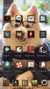 Cute puppy theme apk screenshot