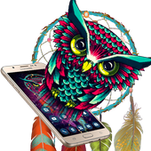 Ethic Colorful Magical Dreamcatcher Owl Theme icon