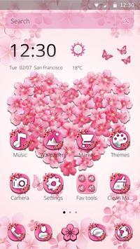 Delicate sakura Blossom Theme screenshot 3