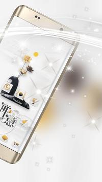 A white zen high-end fashion phone theme screenshot 2