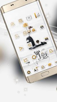 A white zen high-end fashion phone theme screenshot 3