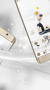 A white zen high-end fashion phone theme screenshot 5