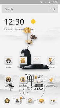 A white zen high-end fashion phone theme screenshot 6