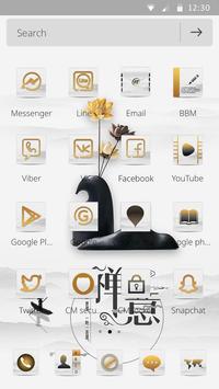 A white zen high-end fashion phone theme apk screenshot