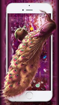 3D purple dreamland peacock theme screenshot 1