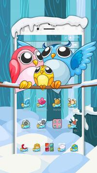 Alluring Pink Owl Theme apk screenshot