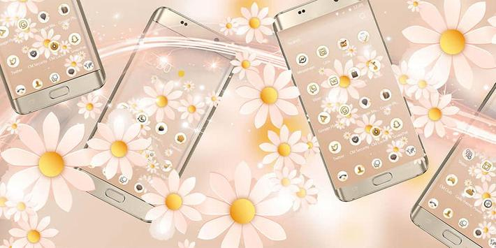 A flower sea mobile phone theme poster