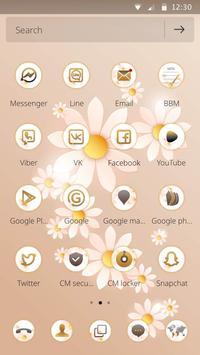 A flower sea mobile phone theme apk screenshot