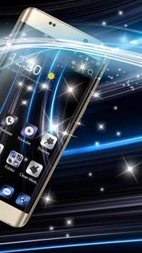 A blue tone of high-end business phone theme apk screenshot
