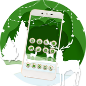 Sparkle Star Green Forest Deer Theme icon