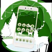 Lovely Deer Cute Trees Diamond Theme icon
