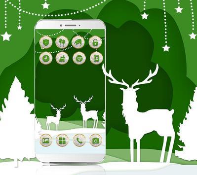 Lovely Deer Cute Trees Diamond Theme screenshot 1