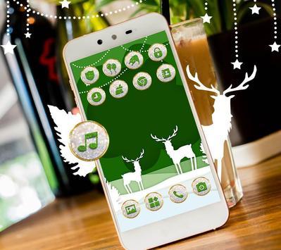Lovely Deer Cute Trees Diamond Theme screenshot 2