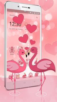 Charming Flamingo Theme poster