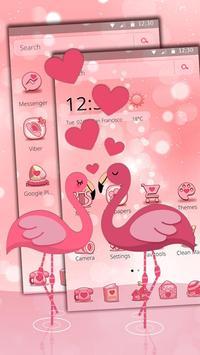 Charming Flamingo Theme apk screenshot